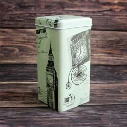 Банка для чая «Англия ретро», металлическая, 100 гр