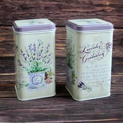 Банка для чая «Лавандовый куст», металлическая, 100 гр