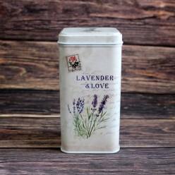Банка для чая «Лаванда и любовь», металлическая, 100 гр