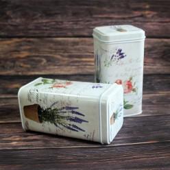 Банка для чая «Лаванда и роза», металлическая, 100 гр
