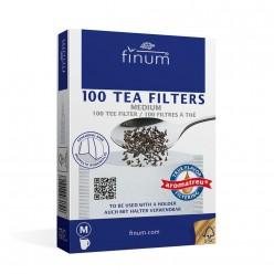 Фильтр-пакеты для заваривания чая Finum, размер M, 100 шт