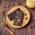 Домашний шоколад на меду фундуком и изюмом. Горький, 72% какао