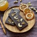 Домашний шоколад на меду с орехом кешью и апельсином. Молочный, 50% какао