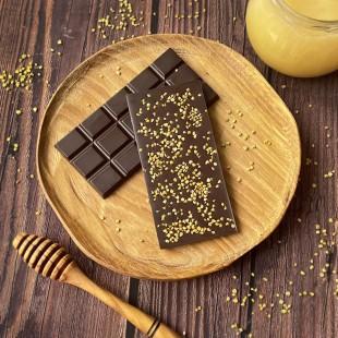 Домашний шоколад на меду с цветочной пыльцой. Горький, 72% какао