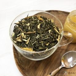 Зеленый чай «Лимонный крем с женьшенем»