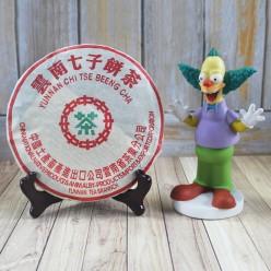 Шу Пуэр Люй Инь «Зеленая печать», рецепт 7572, фабрика CNNP, марка Чжун Ча,  2003 год