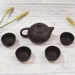 Чайный набор из глины, 5 предметов
