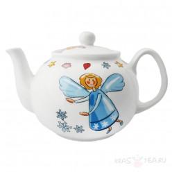 Фарфоровый чайник «Ангел», 1л