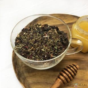 Кедровый чай с черноплодкой и каркаде